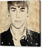 Just Bieber Acrylic Print by Dancin Artworks