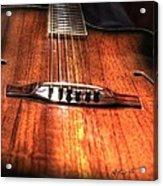 Just Music Digital Guitar Art By Steven Langston Acrylic Print by Steven Lebron Langston