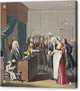 Justice Triumphs, Illustration Acrylic Print by William Hogarth