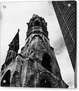 Kaiser Wilhelm Gedachtniskirche Memorial Church Next To The New Church Berlin Germany Acrylic Print by Joe Fox