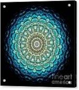Kaleidoscope Aquamarine Bubbles Acrylic Print by Amy Cicconi