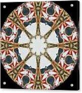Kaleidoscope Wheel Acrylic Print by Cathy Lindsey