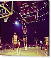 Kareem Jump Shot Acrylic Print by Retro Images Archive