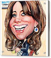 Kate Middleton. Duchess Of Cambridge Acrylic Print by Daniel Byrne