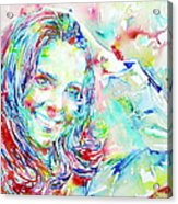 Kate Middleton Portrait.1 Acrylic Print by Fabrizio Cassetta