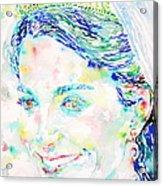 Kate Middleton Portrait.2 Acrylic Print by Fabrizio Cassetta