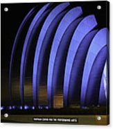 Kauffman Center Of Performing Arts During All-star Week Acrylic Print by Raye Pond