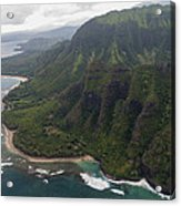 Kee Beach Along The Na Pali Coast - Kauai Hawaii Acrylic Print by Brian Harig