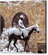 Keeneland In Winter Acrylic Print by Sid Webb