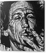 Keith Richards Acrylic Print by Steve Hunter