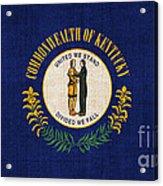 Kentucky State Flag Acrylic Print by Pixel Chimp