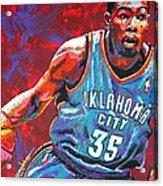 Kevin Durant 2 Acrylic Print by Maria Arango