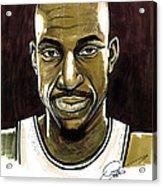 Kevin Garnett Portrait Acrylic Print by Dave Olsen