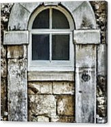 Keystone Window Acrylic Print by Heather Applegate
