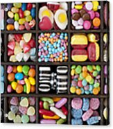 Kids Sweets Acrylic Print by Tim Gainey