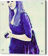 Kind Of Blue Acrylic Print by Jane Schnetlage