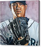 King Felix Hernandez Acrylic Print by Michael  Pattison