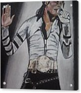 King Of Pop Acrylic Print by Demitrius Roberts