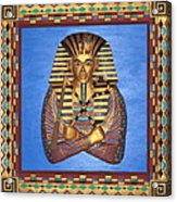King Tut - Handcarved Acrylic Print by Michael Pasko