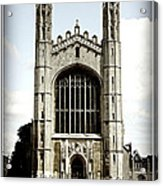 King's College Chapel - Poster Acrylic Print by Stephen Stookey