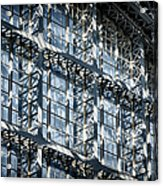 Kings Cross St Pancras Windows Acrylic Print by Joan Carroll