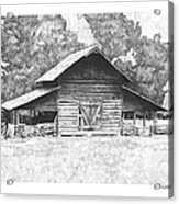 King's Mountain Barn Acrylic Print by Paul Shafranski