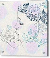 Kiss To A New Born Acrylic Print by Barbara Orenya
