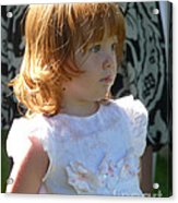 Kissed By An Angel Acrylic Print by Janis  Cornish