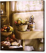 Kitchen - A 1930's Kitchen  Acrylic Print by Mike Savad