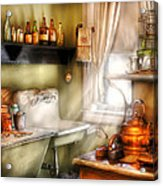 Kitchen - Momma's Kitchen  Acrylic Print by Mike Savad