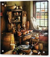 Kitchen - Nothing Like Home Cooking Acrylic Print by Mike Savad