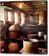 Kitchen - Storage - The Grain Cellar  Acrylic Print by Mike Savad