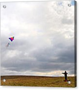 Kite Flying Acrylic Print by Bill Cannon