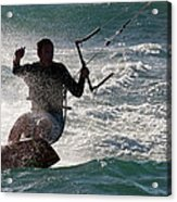 Kite Surfer 01 Acrylic Print by Rick Piper Photography