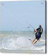 Kitesurfing Acrylic Print by Mats Silvan