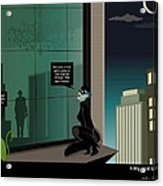 Kitty And Spy Panel 4 Acrylic Print by Kate Paulos