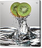 Kiwi Freshsplash Acrylic Print by Steve Gadomski