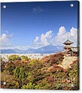 Kiyomizu Dera Temple Kyoto Japan Acrylic Print by Colin and Linda McKie
