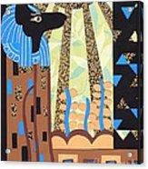 Klimt's Paper Anubis Acrylic Print by Sarah Durbin