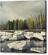 Klondike River Ice Break Acrylic Print by Priska Wettstein