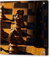 Knight Takes Bishop Acrylic Print by Camille Lopez
