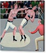 Knock Out Acrylic Print by Jerzy Marek