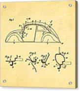Komenda Vw Beetle Body Design Patent Art 1942 Acrylic Print by Ian Monk