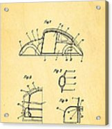 Komenda Vw Beetle Body Design Patent Art 1943 Acrylic Print by Ian Monk
