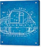 Komenda Vw Beetle Body Design Patent Art 3 1944 Blueprint Acrylic Print by Ian Monk