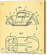Komenda Vw Beetle Official German Design Patent Art Acrylic Print by Ian Monk
