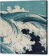 Konen Uehara Waves Acrylic Print by Georgia Fowler