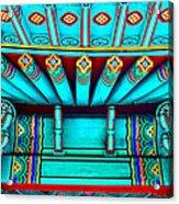 Korean Pagoda Details Acrylic Print by Karon Melillo DeVega