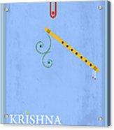 Krishna The Playful Acrylic Print by Tim Gainey