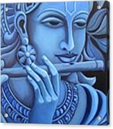 Krishna Acrylic Print by Vishwajyoti Mohrhoff
